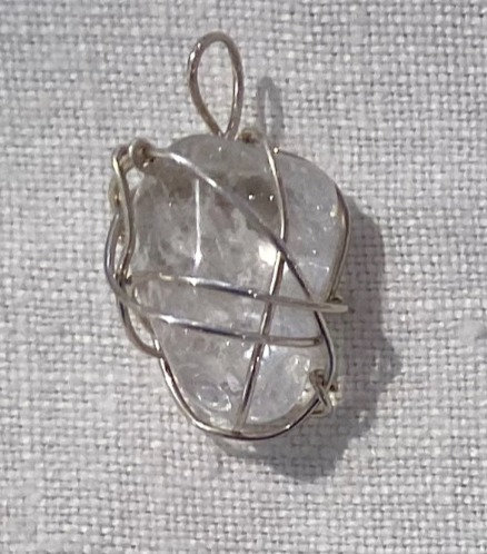 Tumbled Clear Quartz Pendant