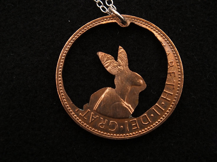 Rabbit Penny Pendant