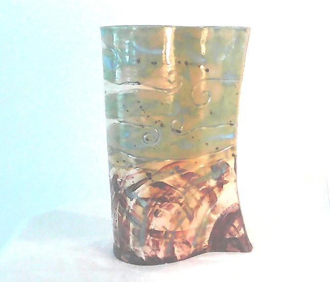 Sunflower Stoneware Vase