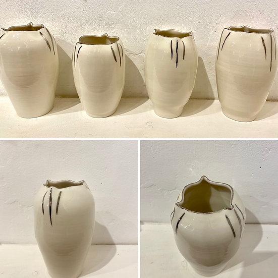 Porcelain Platinum LilyVase