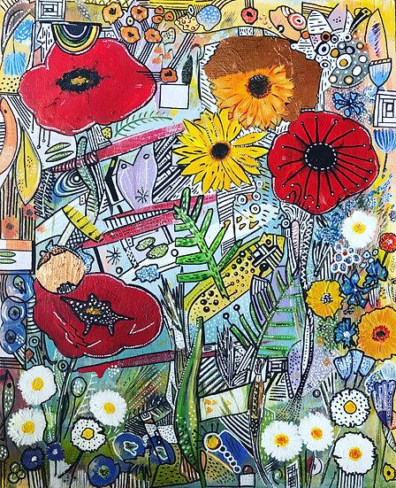 Abstract Flower Garden