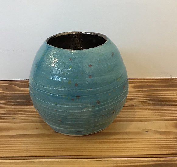 Monet's Pond Turquoise Rounded Pot