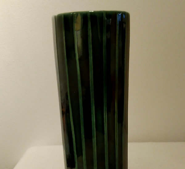 Green Cylinder Vase Small