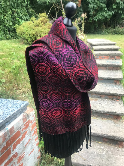 Dark Red and Purple Scarf