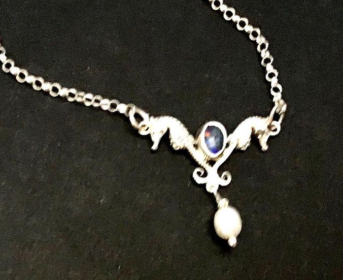 Sea Horse and Opal Pendant