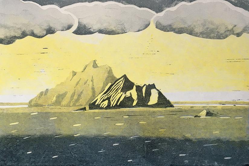 Teresa Newham Lino Skelligs Golden Light