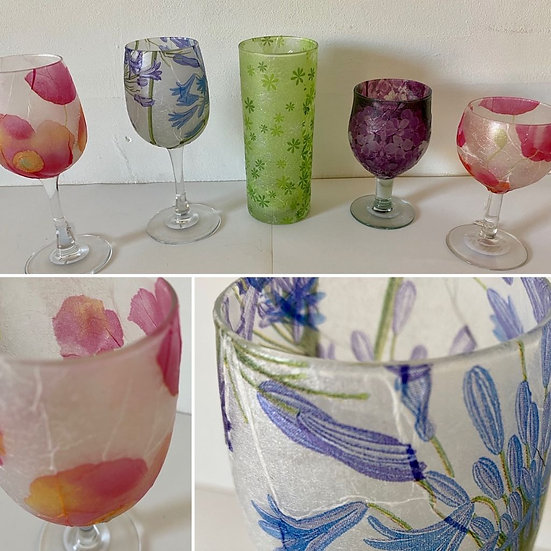 Pink Poppy Glass Large