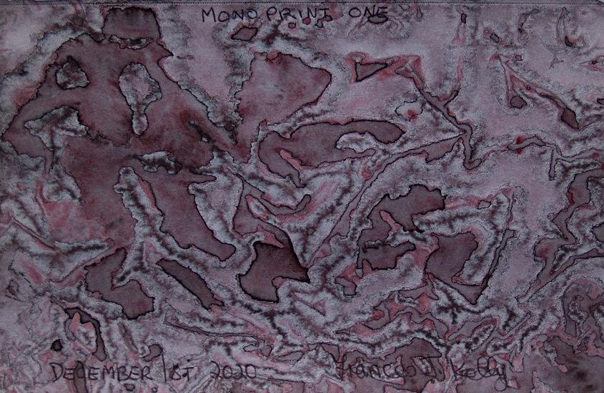 Frances J Kelly Mono Print Watercolour