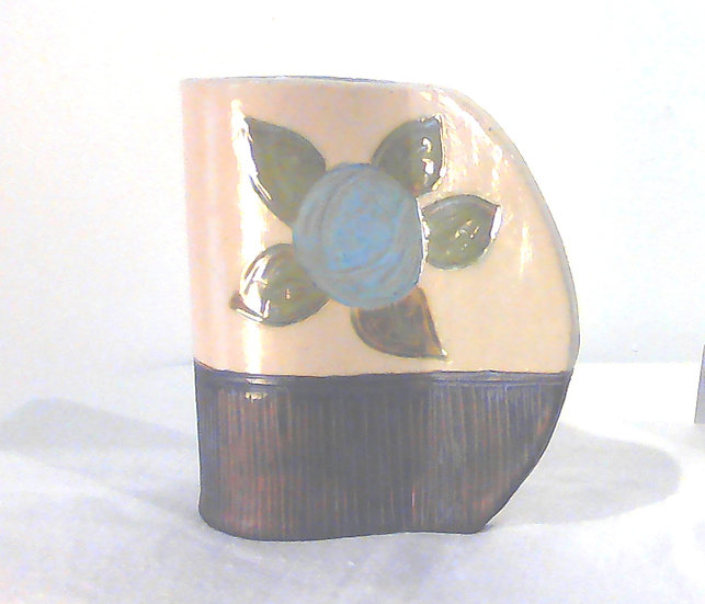 Medium Blue Stoneware Vase