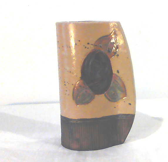 Small Red Rose Stoneware Vase