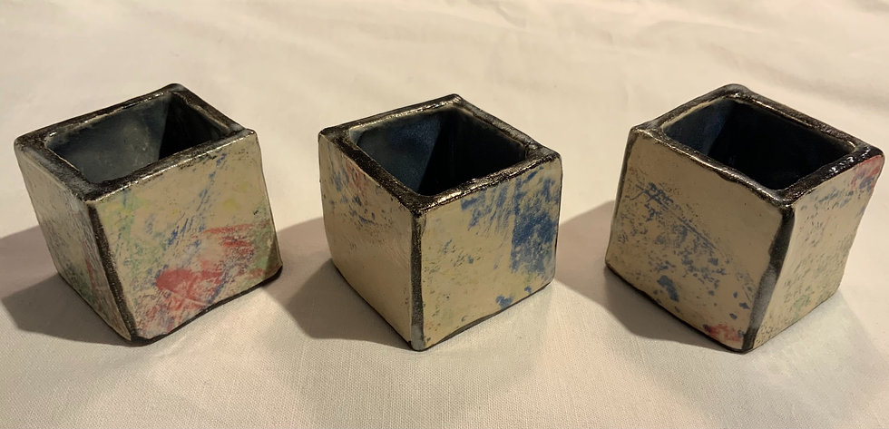 Set of 3 Stonewear Pots