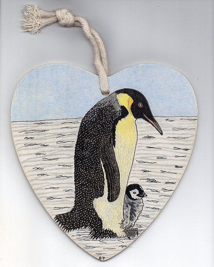 Penguin and Chick Heart