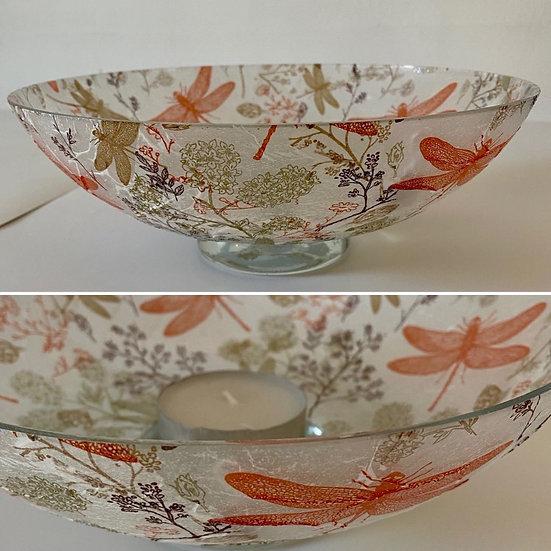 Glass Dragonfly Bowl