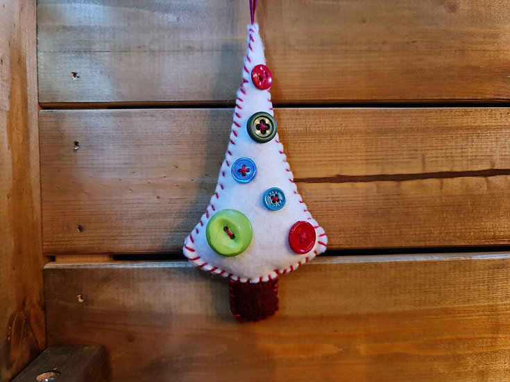 A Selection of  Felt Christmas Trees
