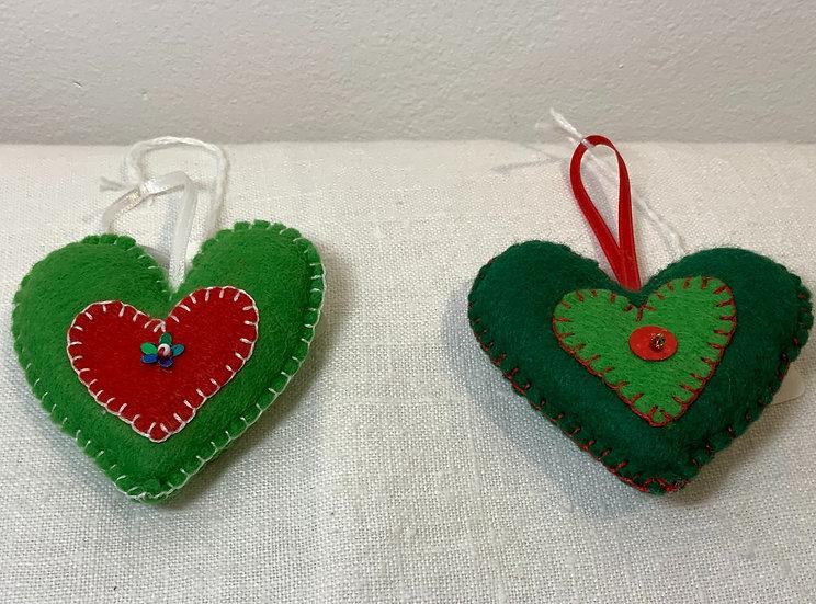 Trish Evison Heart Decoration - Colours Vary