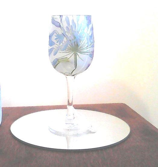 Small Stemmed Glass Agapanthas