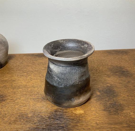 Smoke Fired Half Burnished Vase