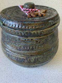 Storage Jar Midnight Blu/Green/ Bronze