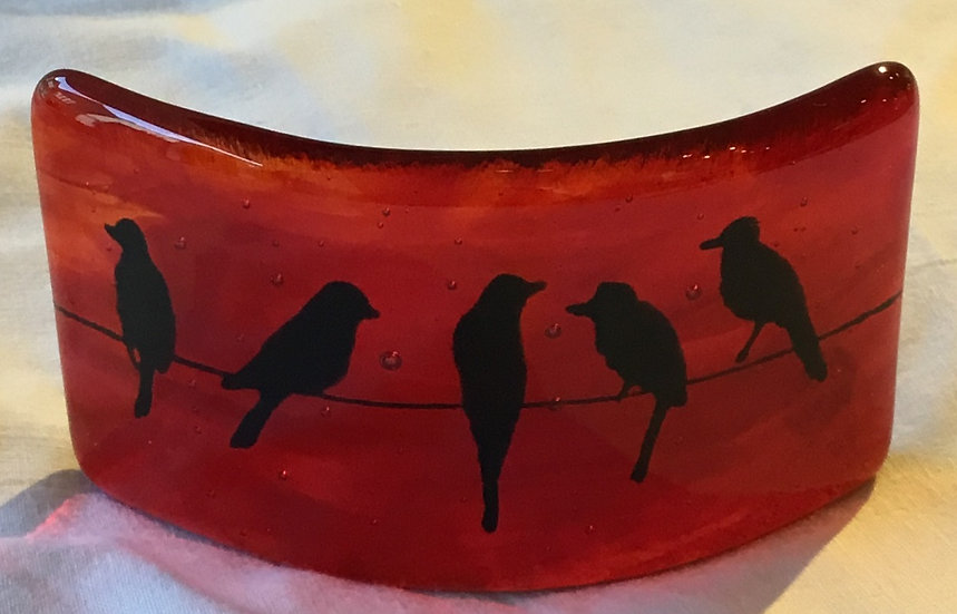 Red Birds Candle Screen