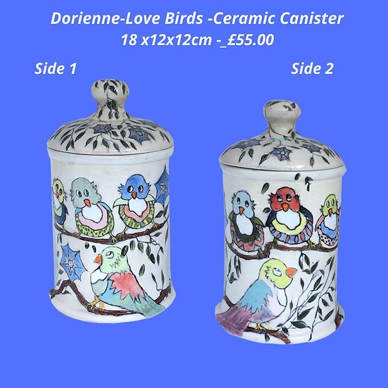 Love birds Canister