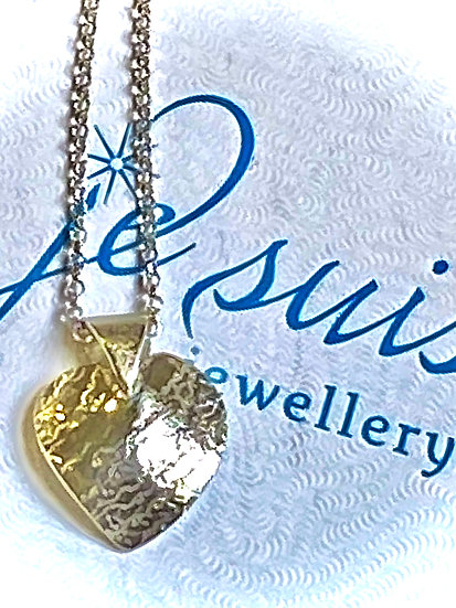 "Sterling Silver Heart and16"" Belcher Chain"