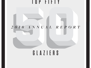 Crawford-Tracey Corporation ranks 31st in Glass Magazine's Top 50, 2018 Glaziers Annual Report