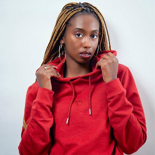Hobe Dark Red Hoodie