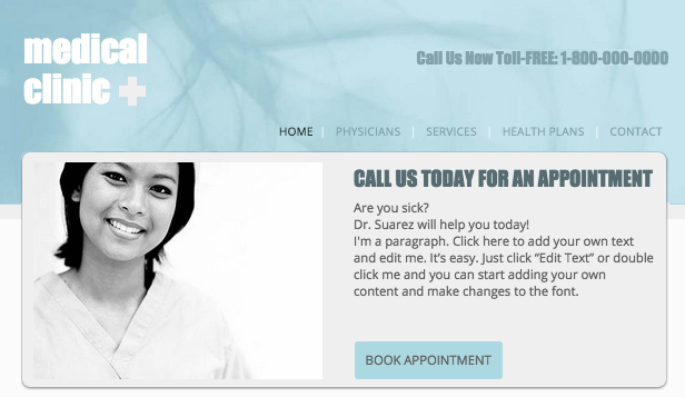 Health website templates – Medical Clinic