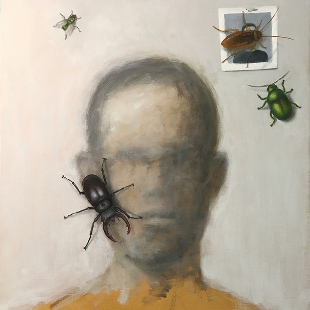 Self portrait with bugs