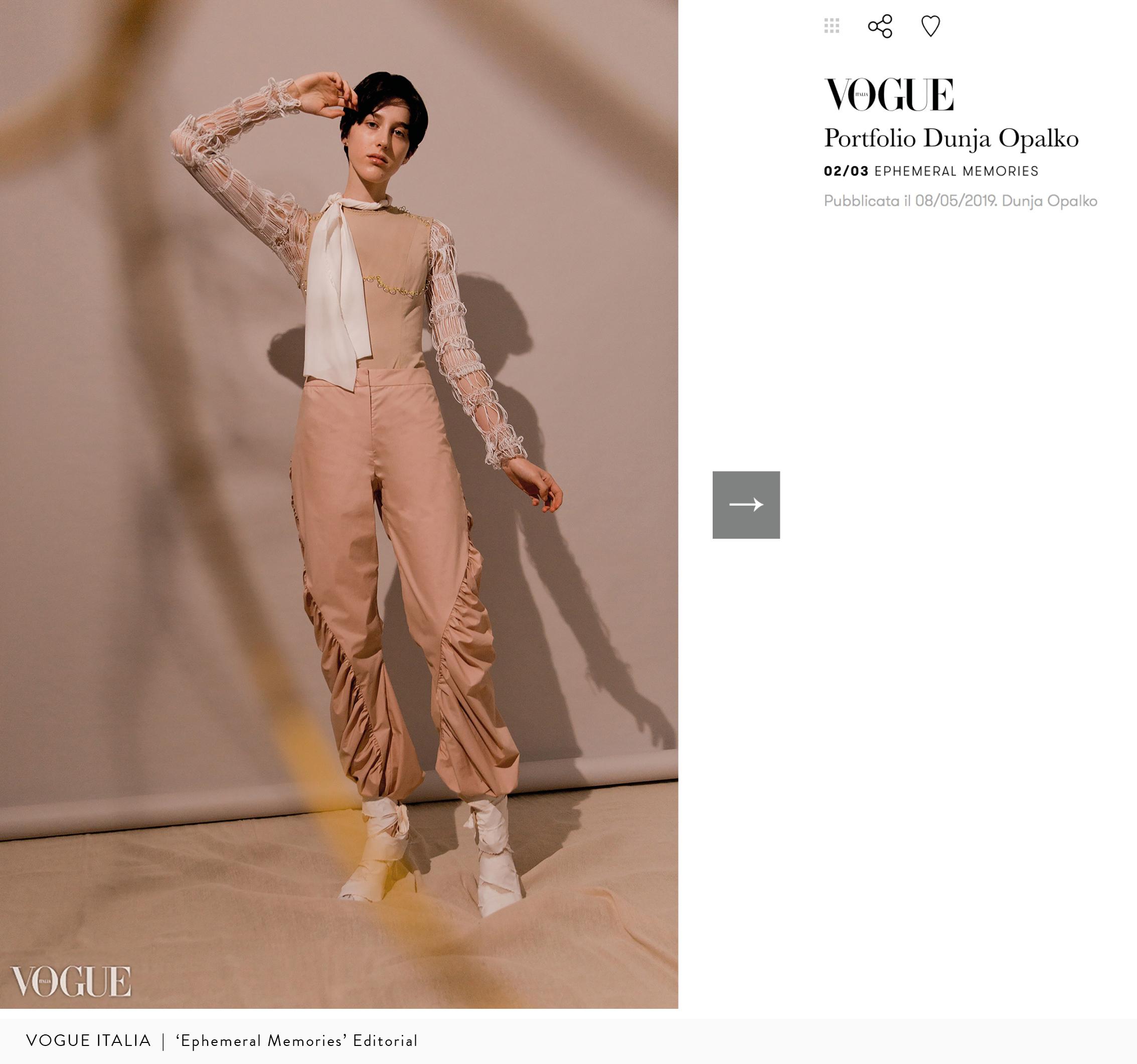 Vogue Italia | 'Ephemeral Memories'