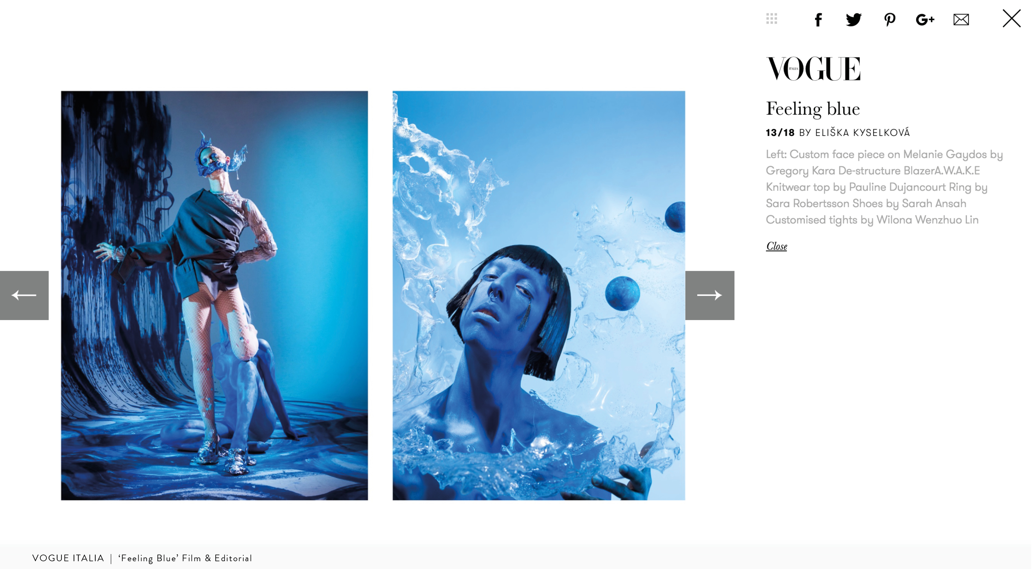 Vogue Italia | 'Feeling Blue' Film