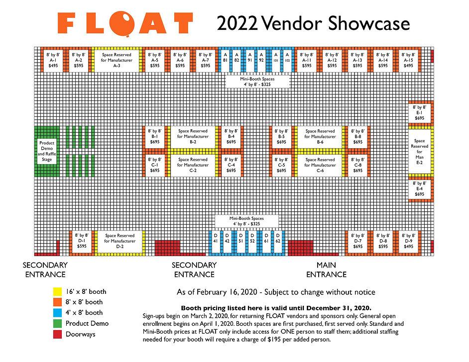 FLOAT 2022 Vendor Info graphic for websi