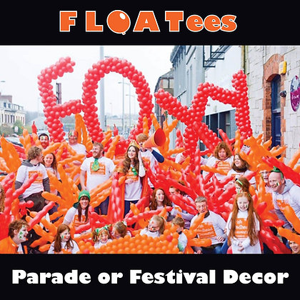 Parade or Festival Decor FLOATEE Entry Fee