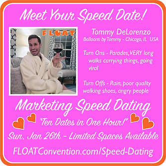 FLOAT 2020 speed dating profile TOMMY.jp