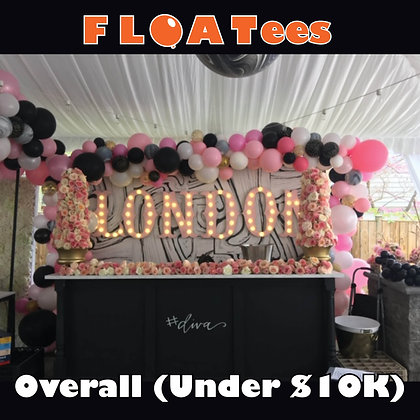 Best Overall Event Decor (Under $10K) FLOATEE Entry Fee