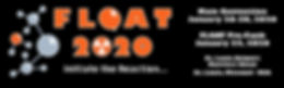 FLOAT 2020 FINAL LOGO on black with info