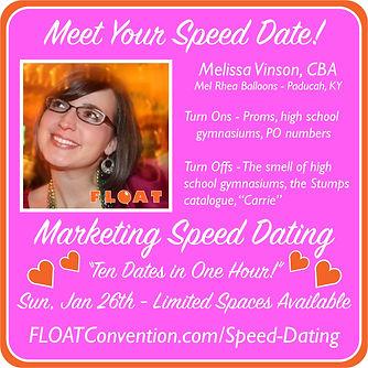 FLOAT 2020 speed dating profile VINSON.j