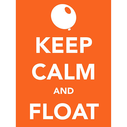 """Keep Calm and FLOAT"" T-Shirt - Small"