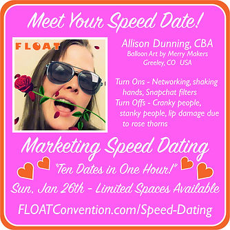 FLOAT 2020 speed dating profile ALLISON.