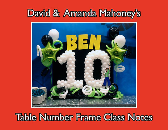 Table Number Frame Class Notes