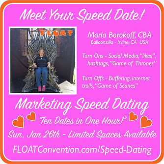 FLOAT 2020 speed dating profile MARLA.jp
