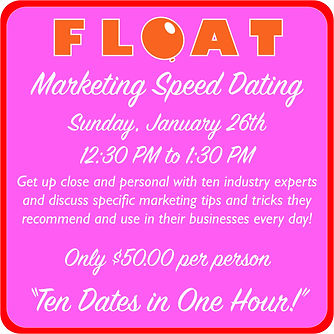 FLOAT 2020 speed dating panel single onl