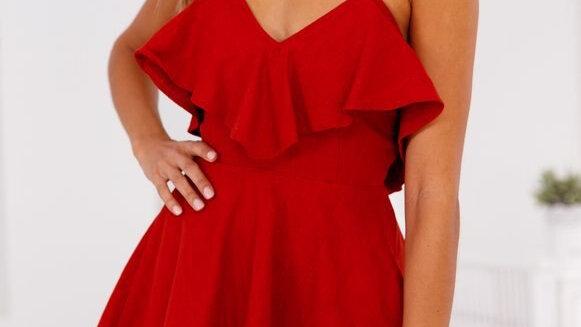 Sun Dress - Vestido Escote de Espalda Cruz Cintura Ajustada Cuello-V