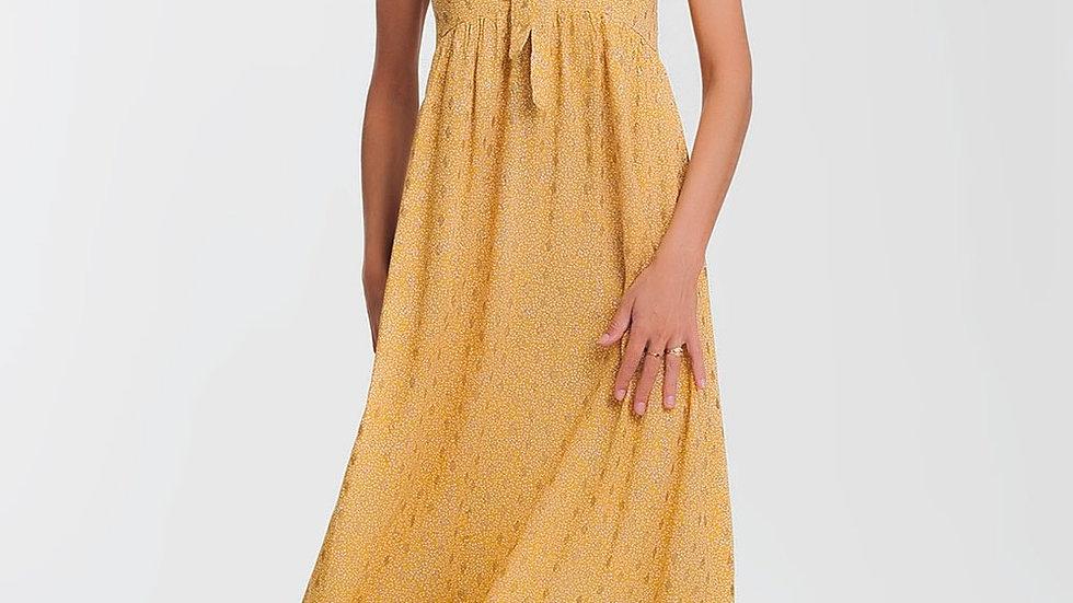 Vestido de Sol - Yellow Dress in Floral Print