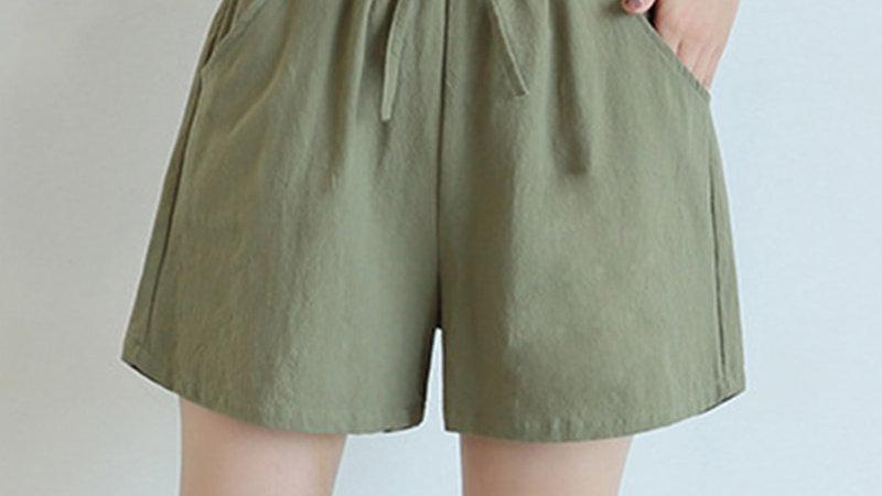 Shorts - Shorts De Algodón Cómodo Cintura Alta