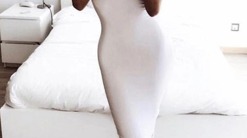 Vestido sin mangas - Liso estilo tubo Strapless Stretchy