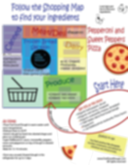 pizza kids shopping map