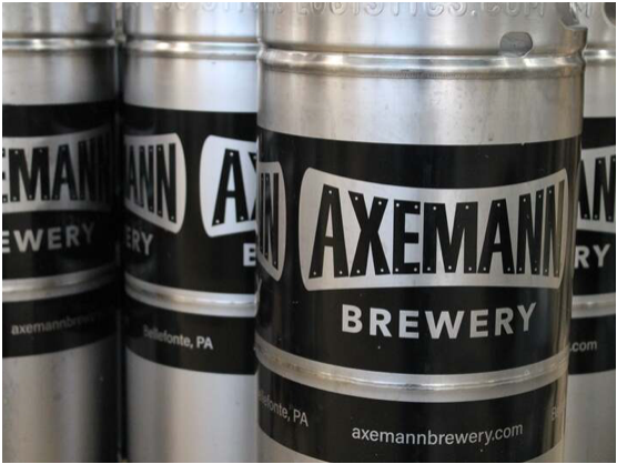 Axemann Brewery located in Central PA, Centre County Pennsylvania, beer, craft beer, lager, pilsner, hazy IPA, hops, things to do in PA, food and drink in PA, weekend activities in Pennsylvania, Bellefonte, State College, fun new restaurant, beer garden, outdoor seating, fun atmosphere, industrial, adventure, Nature Inn, good vibe, family activities