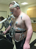 Marc doing cardiopulmonary testing 3-201