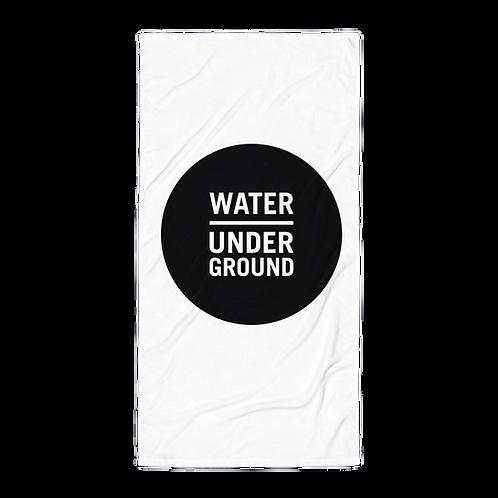 Water Underground Beach Towel